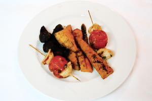 Char Grilled Sweet Potato, Carrots and Beetroots