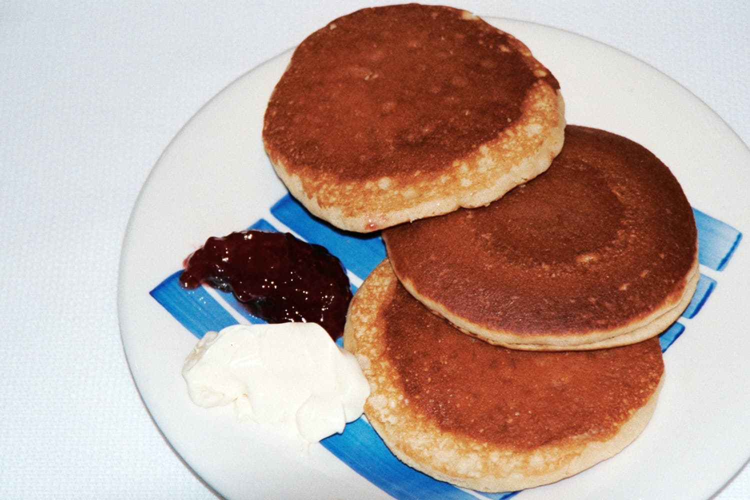 Scottish Pancakes with Jam and Clotted Cream