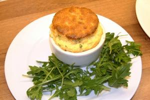 Goats Cheese Soufflé