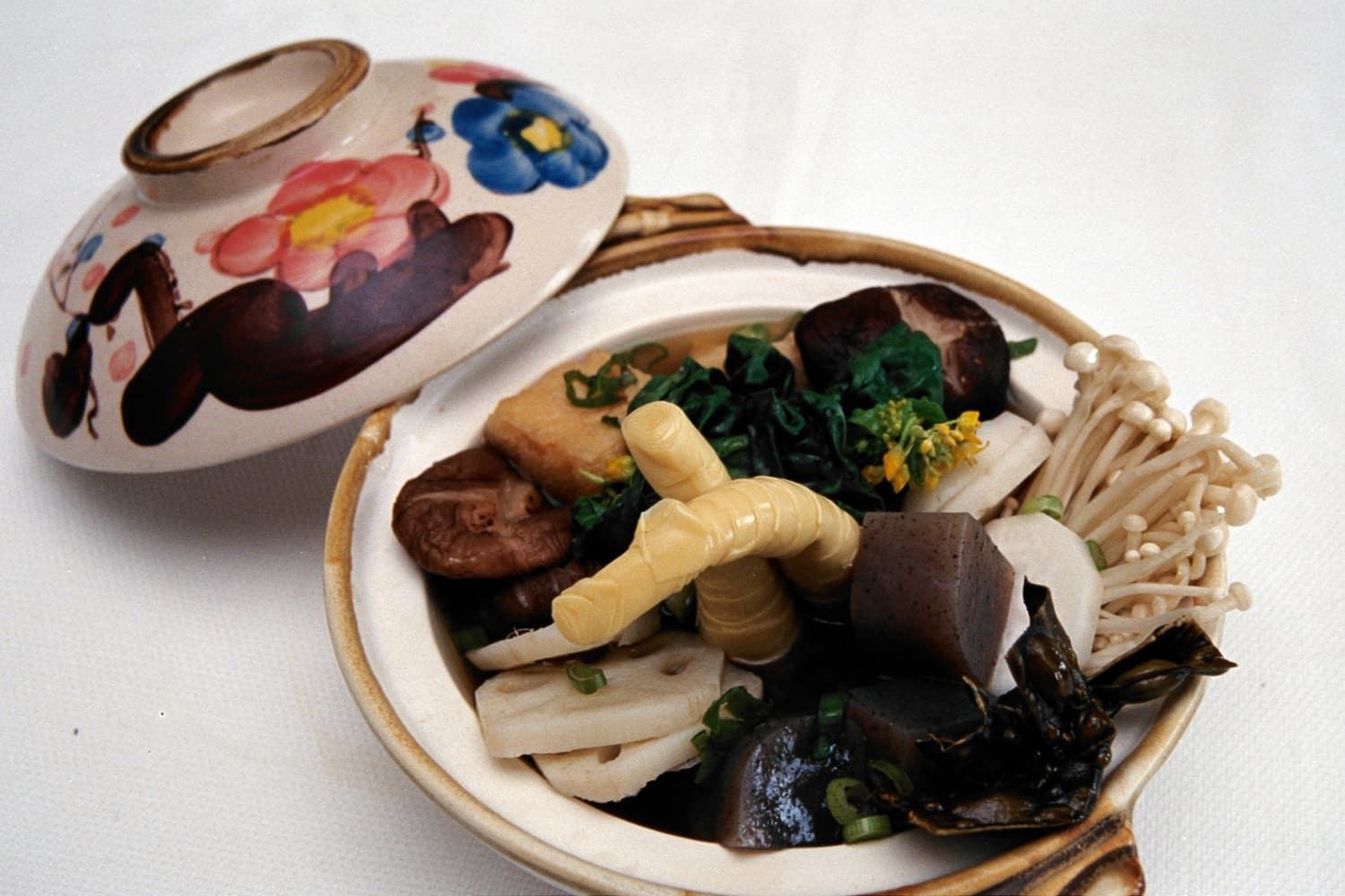 Sansai Nabe for Two: Pot Cooked Vegetables and B