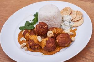 Cauliflower and Chickpea Koftas